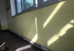 코로나19를 대하는 우리 복지관의 자세 3탄 - 식당 인테리어 벽돌 작업